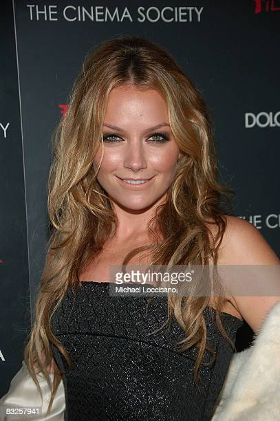Actress Becki Newton attends a screening of Filth and Wisdom hosted by The Cinema Society and Dolce and Gabbana at the IFC Center on October 13 2008...