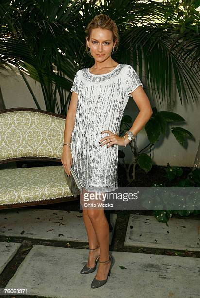 Actress Becki Newton attends Playa y Sol by photographer Nino Munoz presented by The Art of Elysium and sponsored by French Connection at a private...