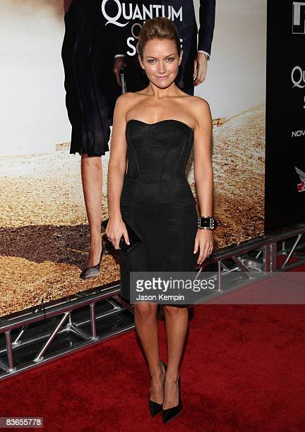 """Actress Becki Newton attends the 2008 Tribeca Film Institute Fall Benefit screening of """"Quantum of Solace"""" at the AMC Lincoln Square theatre on..."""