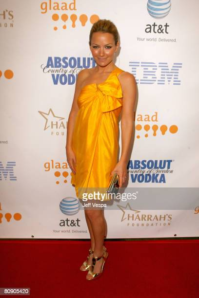 Actress Becki Newton during cocktails at the 19th Annual GLAAD Media Awards on April 25, 2008 at the Kodak Theatre in Hollywood, California.