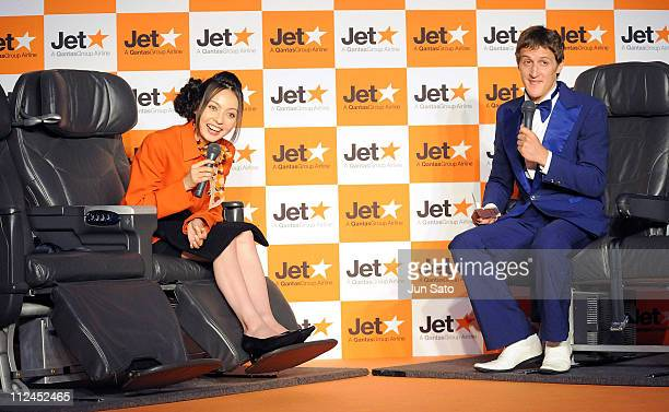 Actress Becky attends Jetstar's press conference of a new fair campaign to Australia at the Westin Hotel Tokyo on July 14 2008 in Tokyo Japan
