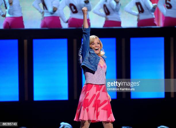 Actress Becky Gulsving performs a song from Legally Blonde on stage during the 63rd Annual Tony Awards at Radio City Music Hall on June 7 2009 in New...