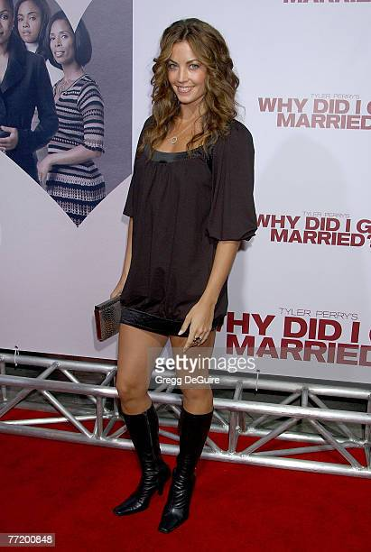 Actress Becky O'Donohue arrives at the Tyler Perry's Why Did I Get Married premiere at The Cinerama Dome on October 4 2007 in Hollywood California
