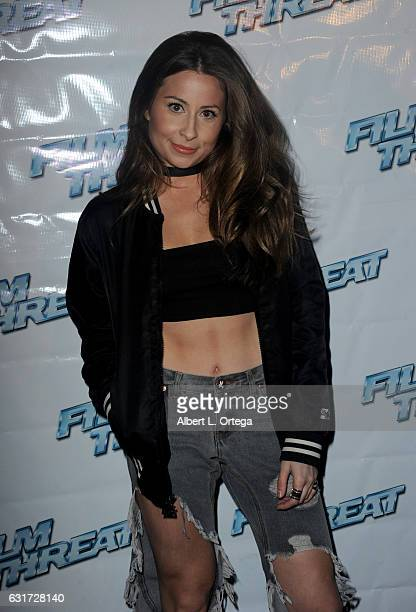 Actress Becky Robinson at the Launch Party For 'Film Threat' Online held at The Berrics on January 14 2017 in Los Angeles California
