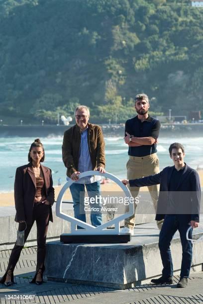 """Actress Begoña Vargas, director Daniel Monzon, actors Chechu Salgado and Marcos Ruiz attend """"Las Leyes de La Frontera"""" photocall during 69th San..."""