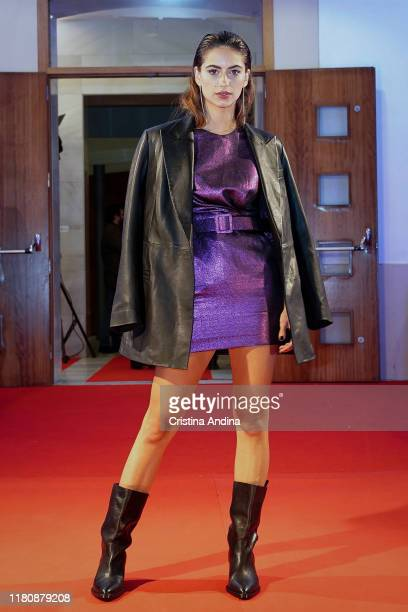 Actress Begona Vargas attends Alta Mar second season preview by Netflix at Noia Festival at the hometown of its creator Ramon Campos on November 8...