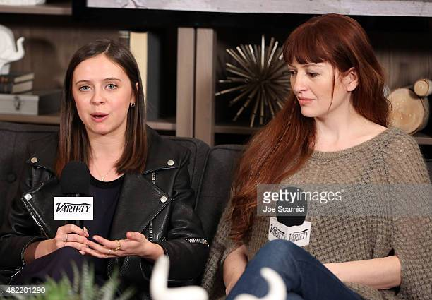 Actress Bel Powley and writer/director Marielle Heller speak during The Variety Studio At Sundance Presented By Dockers on January 25 2015 in Park...
