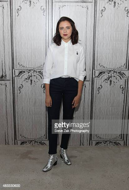 Actress Bel Powley attends AOL BUILD Speaker Series presents The Diary Of A Teenage Girl at AOL Studios In New York on August 7 2015 in New York City