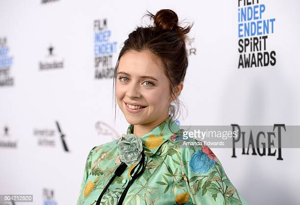 Actress Bel Powley attends the 2016 Film Independent Filmmaker Grant and Spirit Award Nominees Brunch at BOA Steakhouse on January 9, 2016 in West...