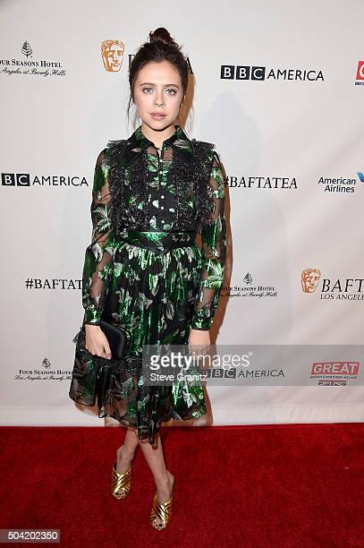 Actress Bel Powley attends the BAFTA Los Angeles Awards Season Tea at Four Seasons Hotel Los Angeles at Beverly Hills on January 9, 2016 in Los...