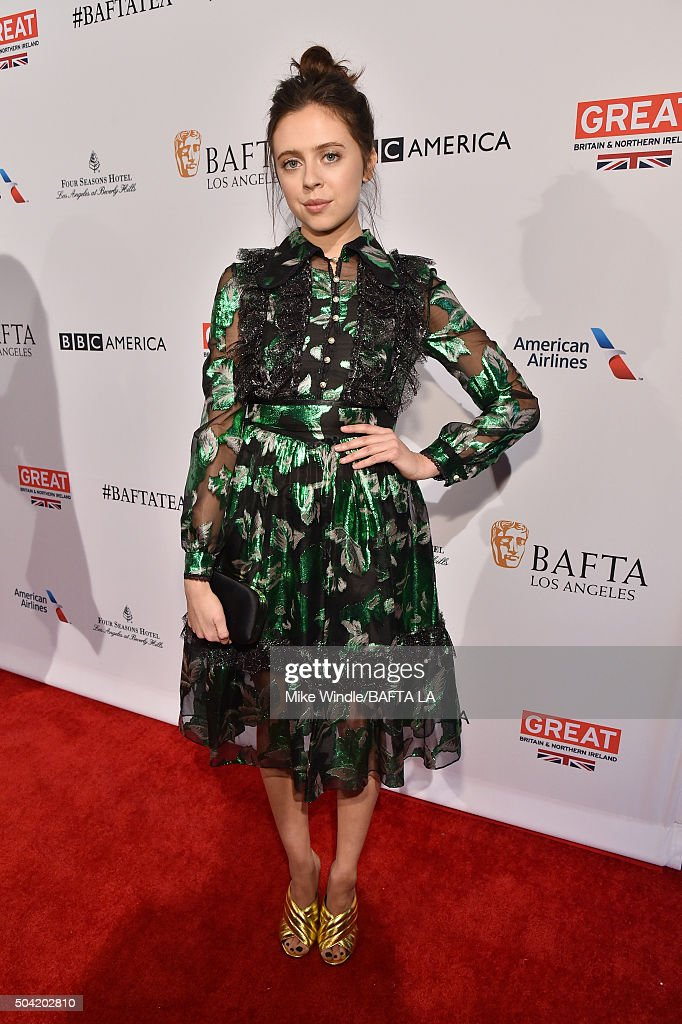 Actress Bel Powley attends the BAFTA Los Angeles Awards Season Tea at Four Seasons Hotel Los Angeles at Beverly Hills on January 9, 2016 in Los Angeles, California.