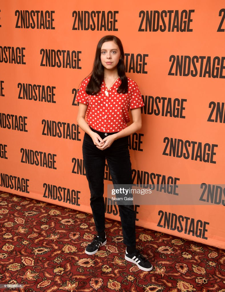 Actress Bel Powley attends the 'Lobby Hero' cast meet and greet at Sardi's on February 16, 2018 in New York City.