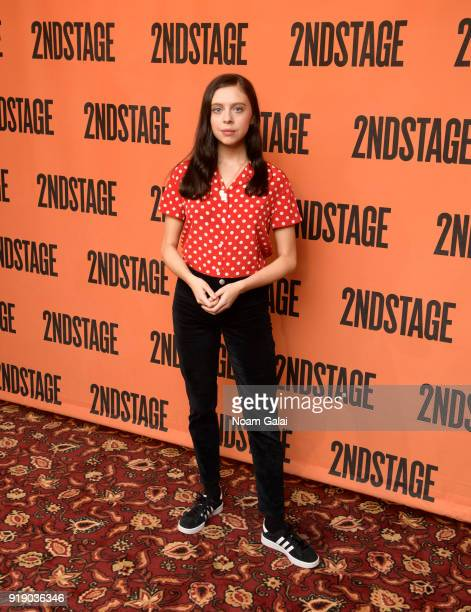 """Actress Bel Powley attends the """"Lobby Hero"""" cast meet and greet at Sardi's on February 16, 2018 in New York City."""