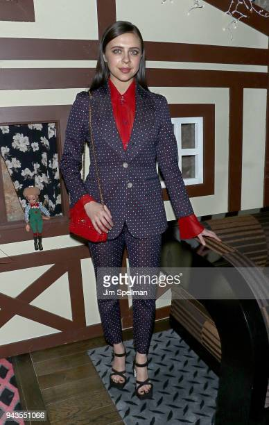 Actress Bel Powley attends the screening after party for IFC Midnight's Wildling hosted by The Cinema Society and Gemfields at Alley Cat Amateur...