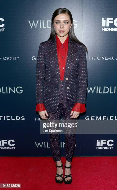 Actress Bel Powley attends the screening of IFC Midnight's Wildling hosted by The Cinema Society and Gemfields at iPic Theater on April 8 2018 in New...