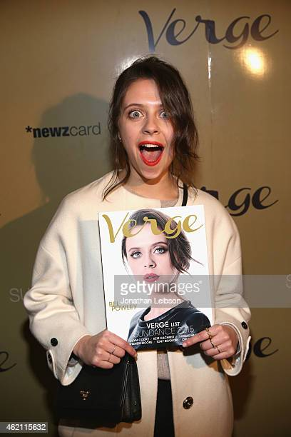 Actress Bel Powley attends the Verge Sundance 2015 Party at WireImage Studio on January 24 2015 in Park City Utah