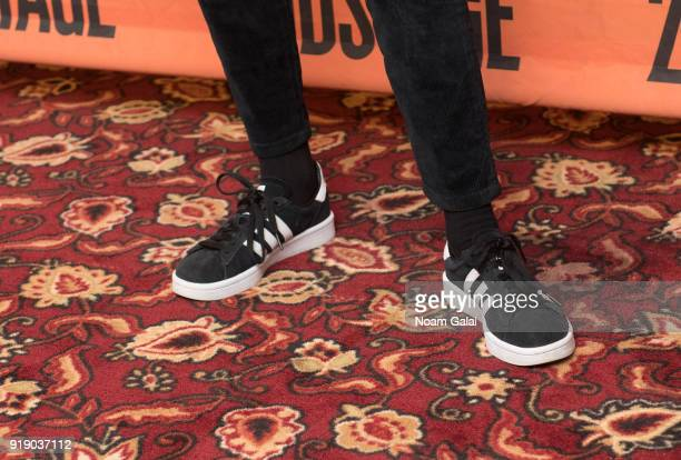 Actress Bel Powley shoe detail attends the 'Lobby Hero' cast meet and greet at Sardi's on February 16 2018 in New York City