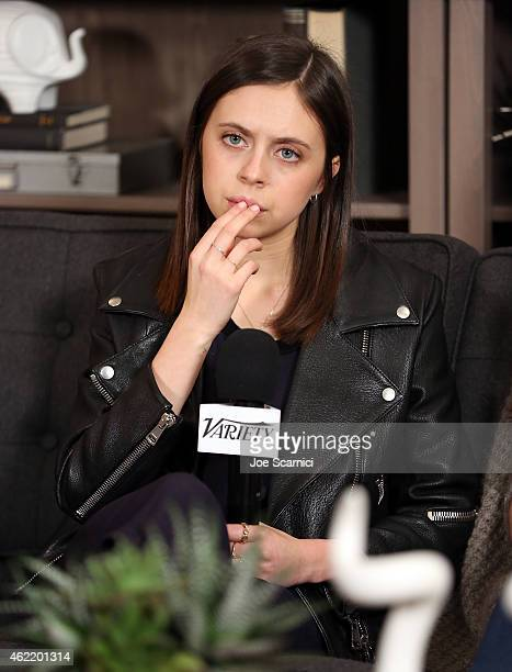 Actress Bel Powley speaks during The Variety Studio At Sundance Presented By Dockers on January 25 2015 in Park City Utah