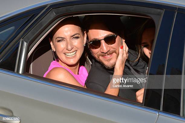 Actress Belen Lopez and actor Alberto Ammann attend Nuestros Amantes premiere at the Cervantes Teather during the 19th Malaga Film Festival on April...
