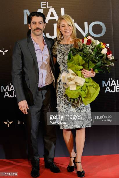 Actress Belen Rueda and actor Eduardo Noriega attend 'El Mal Ajeno' premiere at Capitol Cinema on March 16 2010 in Madrid Spain