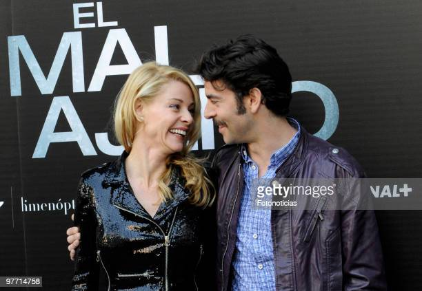 Actress Belen Rueda and actor Eduardo Noriega attend the 'El Mal Ajeno' photocall at Princesa Cinema on March 15 2010 in Madrid Spain
