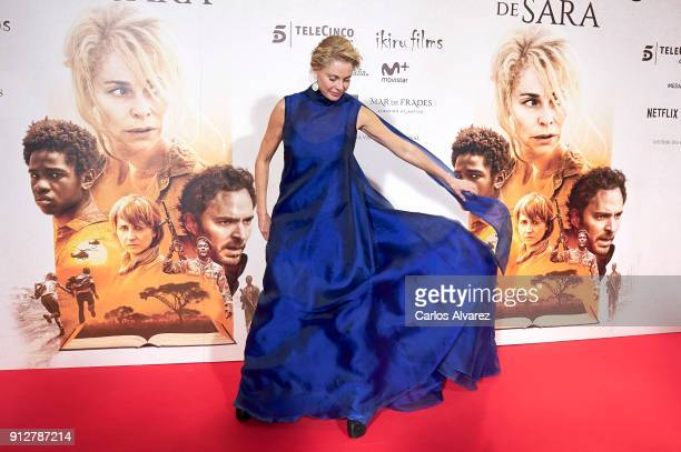 Actress Belen Rueda attends 'El Cuaderno De Sara' premiere at the Capitol cinema on January 31 2018 in Madrid Spain