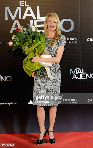 Actress Belen Rueda attends 'El Mal Ajeno' premiere at Capitol Cinema on March 16 2010 in Madrid Spain
