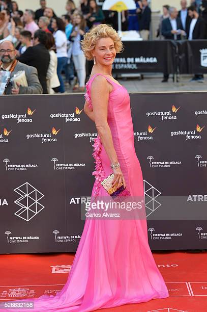 Actress Belen Rueda attends Nuestros Amantes premiere at the Cervantes Teather during the 19th Malaga Film Festival on April 30 2016 in Malaga Spain