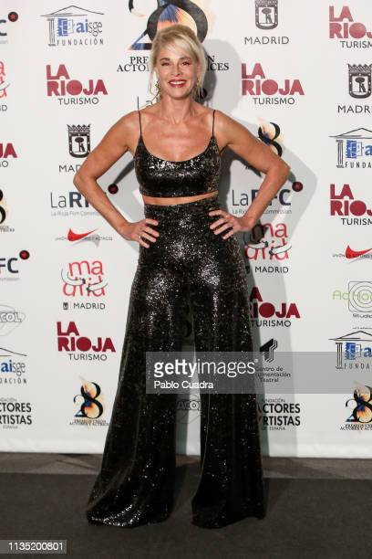 Actress Belen Rueda attends the 28th Union de Actores awards photocall at Circo Price on March 11 2019 in Madrid Spain