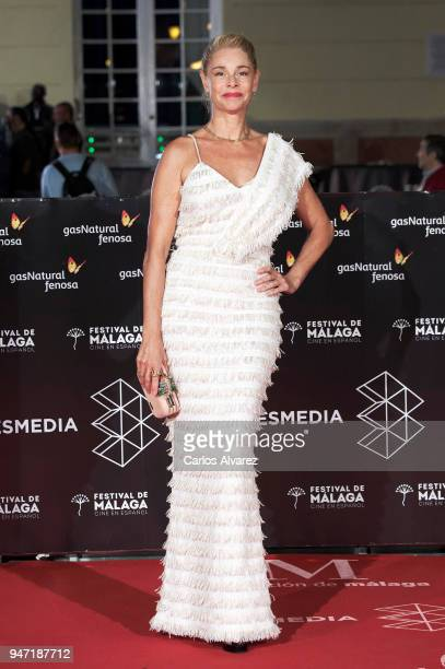 Actress Belen Rueda attends the 'Malaga Hoy' award during the 21th Malaga Film Festival at the Cervantes Theater on April 16 2018 in Malaga Spain