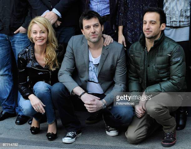 Actress Belen Rueda director Oskar Santos and director and producer Alejandro Amenabar attend the 'El Mal Ajeno' photocall at Princesa Cinema on...