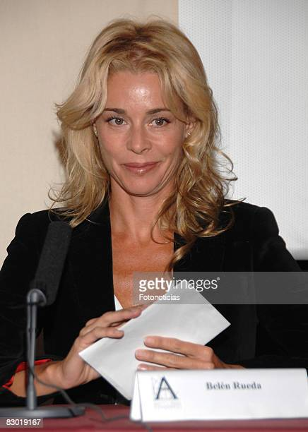 Actress Belen Rueda unveils 'Los Girasoles Ciegos' as the spanish movie to represent Spain at the 2009 Oscars on September 26 2008 in Madrid Spain