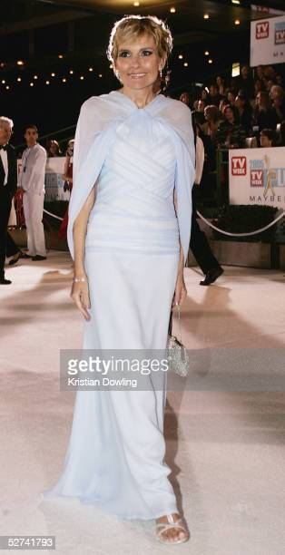 Actress Belinda Emmett arrives at the 47th Annual TV Week Logie Awards at the Crown Entertainment Complex May 1 2005 in Melbourne Australia