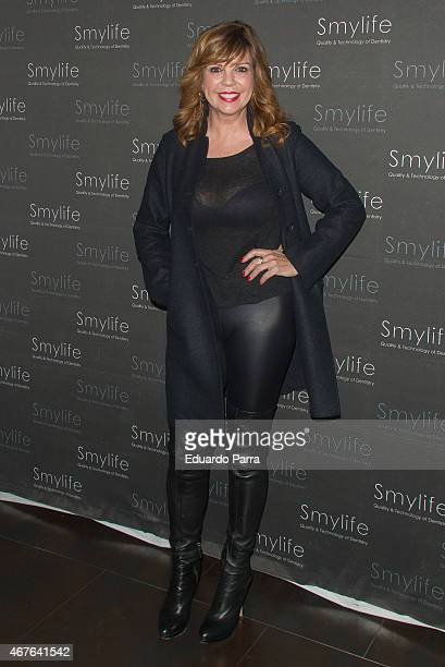 Actress Belinda Washington attends the Smylife event photocall at Smylife clinic on March 26 2015 in Madrid Spain