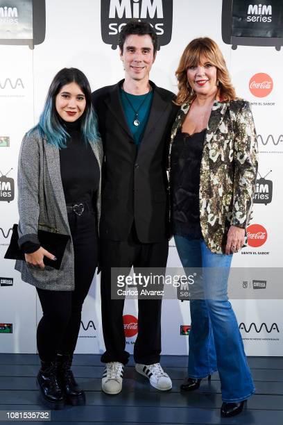 Actress Belinda Washington director Ander Palacio and actress Maria Herrejon attend 'Pasionaria Millenial' photocall at Cineteca on December 12 2018...