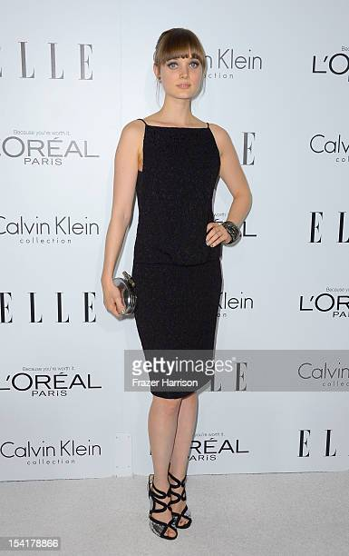 Actress Bella Heathcote arrives at ELLE's 19th Annual Women In Hollywood Celebration at the Four Seasons Hotel on October 15 2012 in Beverly Hills...