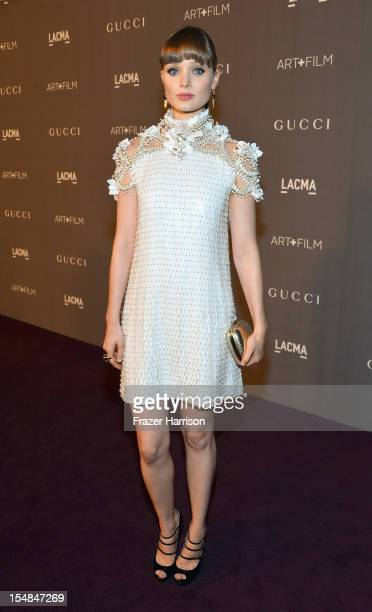 Actress Bella Heathcote arrives at LACMA 2012 Art Film Gala Honoring Ed Ruscha and Stanley Kubrick presented by Gucci at LACMA on October 27 2012 in...