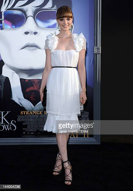 Actress Bella Heathcote arrives at the premiere of Warner Bros Pictures' Dark Shadows at Grauman's Chinese Theatre on May 7 2012 in Hollywood...