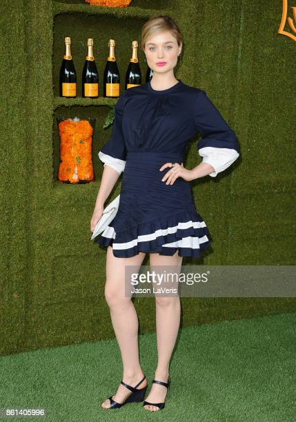 Actress Bella Heathcote attends the 8th annual Veuve Clicquot Polo Classic at Will Rogers State Historic Park on October 14 2017 in Pacific Palisades...
