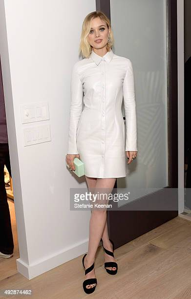 Actress Bella Heathcote attends The Apartment by The Line LA opening on October 15 2015 in Los Angeles California