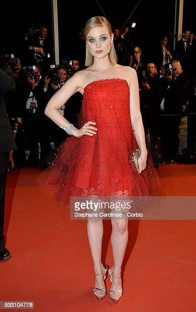 Actress Bella Heathcote attends 'The Neon Demon' Premiere during the 69th annual Cannes Film Festival at the Palais des Festivals on May 20 2016 in...