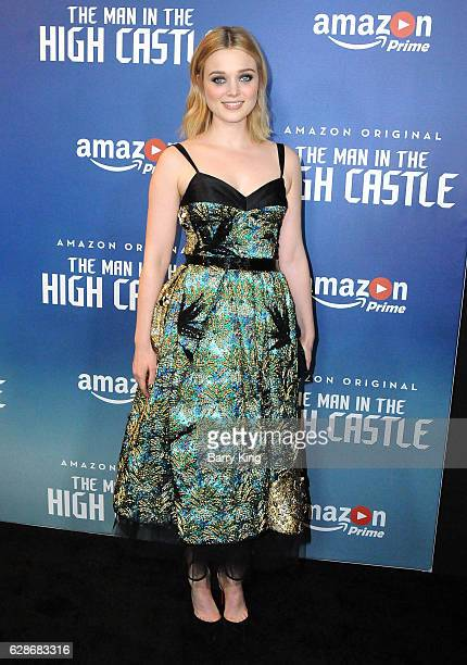Actress Bella Heathcote attends the premiere of Amazon's 'Man In The High Castle' at Pacific Design Center on December 8 2016 in West Hollywood...