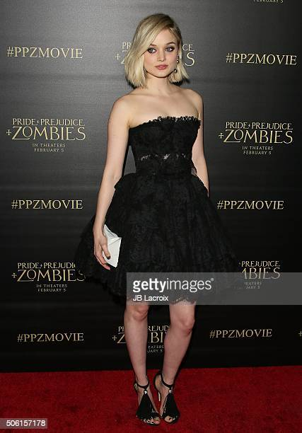 Actress Bella Heathcote attends the premiere of Screen Gems' 'Pride and Prejudice and Zombies' on January 21 2016 in Los Angeles California