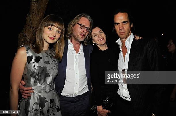 Actress Bella Heathcote Director Andrew Dominik Susie Bick and Screenwriter/Composer Nick Cave attend the after party for the LAWLESS premiere in Los...