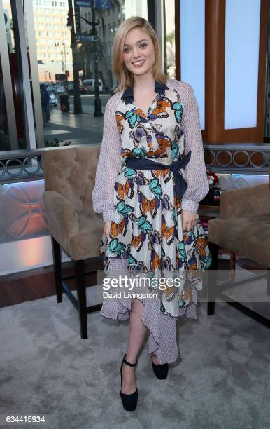 Actress Bella Heathcote visits Hollywood Today Live at W Hollywood on February 9 2017 in Hollywood California