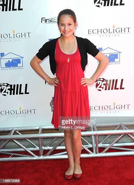 Actress Bella King arrives for '25 Hill' Los Angeles Premiere And Soap Box Race held at American Cinematheque's Egyptian Theatre on June 23 2012 in...