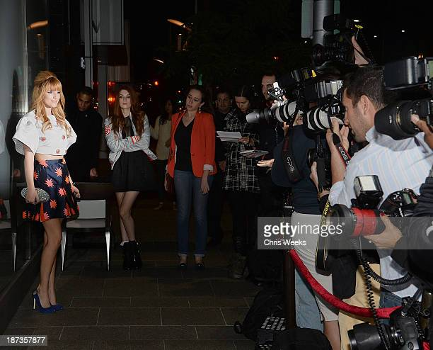 Actress Bella Thone attends the Flaunt Magazine November issue party at Hakkasan on November 7 2013 in Beverly Hills California