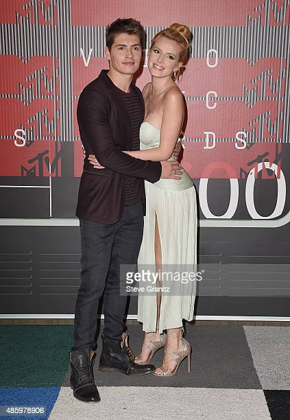 Actress Bella Thorne and actor Gregg Sulkin attend the 2015 MTV Video Music Awards at Microsoft Theater on August 30 2015 in Los Angeles California