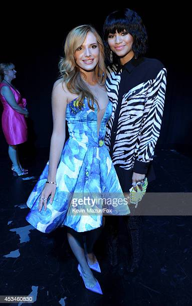 Actress Bella Thorne and actresssinger Zendaya attend FOX's 2014 Teen Choice Awards at The Shrine Auditorium on August 10 2014 in Los Angeles...