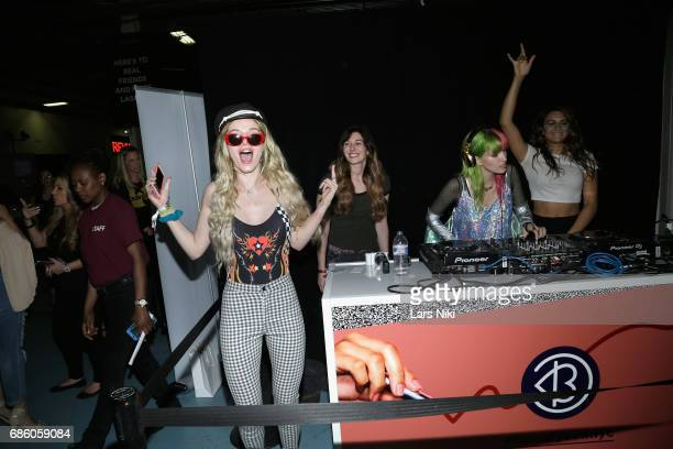 Actress Bella Thorne and Dani Thorne perform during Beautycon Festival NYC 2017 at Brooklyn Cruise Terminal on May 20 2017 in New York City